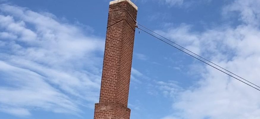 Chimney falling at Rockland Homes for Heroes development site